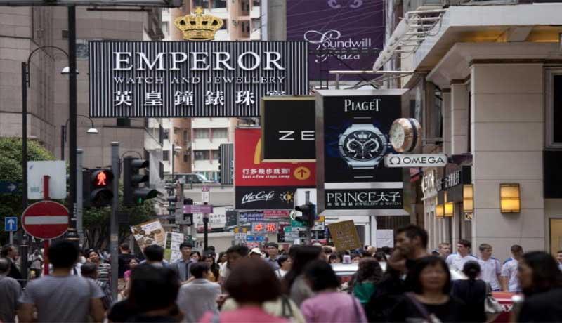 Продажи ювелирных изделий в Гонконге растут за счет туризма